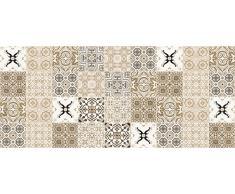 Laroom Alfombra Vinílica de Cocina Diseño Faro, Vinilo Antiliscante, Beige, 65x150 cm