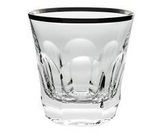 Cristal de Sèvres Chenonceaux Platine Set de Vasos Whisky, Cristal, 10x10x10 cm 2 Unidades