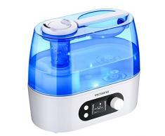 3L Humidificador Ambientador Ultrasónico de VicTsing, Humidificador bebe con LCD pantalla, Exhibición de la humedad, Bastante Silencioso, Gran Capacidad, 360° Doble Boquillas, Ideal a Bebe,Niños