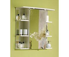 Simply Chelsea Armario con Espejo, Blanco, 24 x 66,8 x 70,4 cm