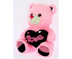 Bimar Peluche Osos Rosa 28 cm Corazon Negro Love