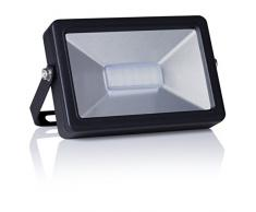 Smartwares 10.025.79 Foco LED exterior 20W1300lm luz blanca natural FL1-B20B Negro