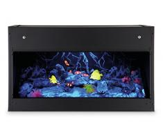 EWT OPTI-V AQUARIUM Interior Built-in fireplace Eléctrico Negro - Chimenea (760 mm, 350 mm, 450 mm, 26 kg, 850 mm, 450 mm)