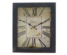 Better & Best 2673020 - Reloj de pared rectangular, con números romanos, color blanco con borde negro