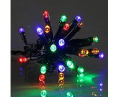 E = m6 5eex333mc guirnalda con 100 bombillas LED, plástico/PVC, multicolor