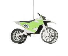 elobra lámpara Motocross eléctrica techo infantil para niños, madera, 40 W, Plata