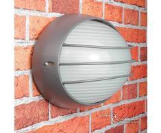 Maritime Amsterdam - Lámpara para entornos húmedos (casquillo E27 a 60 W, 230 V, IP44, para jardín), color gris oscuro