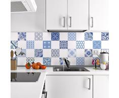 24 pegatinas adhesivos carrelages | adhesivo adhesivo azulejos – Mosaico Azulejos de pared de baño y cocina | azulejos adhesiva – azulejo – 10 x 10 cm – 24 piezas