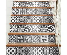 60 pegatinas adhesivos carrelages | adhesivo adhesivo azulejos – Mosaico Azulejos de pared de baño y cocina | azulejos adhesiva – Nuance de gris tradicionales – 10 x 10 cm – 60 piezas