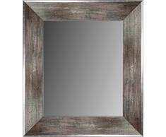 Lienzos Levante Espejo de Pared para Baño o Recibidor, Madera, Grafito, 93 x 72 cm