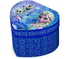 Star Licensing Disney Frozen Estuche Joyero corazón, cartón, multicolor, 12.5 x 11.5 x 8.5 cm