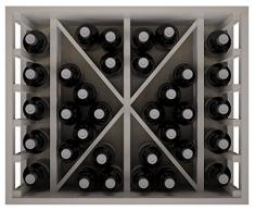 Expovinalia Ew2531 Botellero Pino Y Con Capacidad Para 34 Botellas Vino O Cava, Madera, Blanco