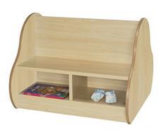 Mobeduc 602106HP18 - Banco infantil doble para 4 niños, madera, color haya, 70 x 66 x 54 cm