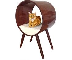 Penn-Plax moderno gato cama, redondo elegante gato muebles para todas las razas y tamaños
