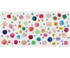 Vilber Gran Chef Dots Alfombra, Vinilo, Multicolor, 50x100x0.2cm