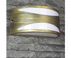 York exterior de Wandleuchte Dorado./IP44 zonas húmedas lámpara E27 hasta 60 W/lámpara de pared para exterior en estilo antiguo Iluminación patio jardín Terraza