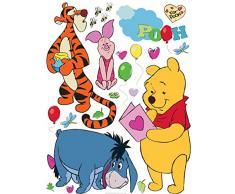 AG Diseño DKS 1087Disney Winnie The Pooh, Pegatinas de Pared, 30x 30cm–1Notebook, Papel, Colorful, 30x 30cm