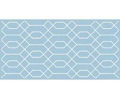 66x150 cm Azul Alfombra de vinilo VINILIKO Jalousie
