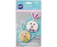 Wilton - claro de conejo de Pascua tratar Bolsas, Multicolor, 12 unidades