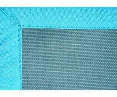 Home Life Alfombra con diseño PVC, Poliéster, Azul, 60 x 120 cm