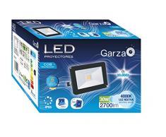 Garza Foco proyector cob LED exterior E27, 30 W, Azul