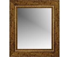 Lienzos Levante DA1513O-7 Espejo de Pared para Baño o Recibidor, Madera, Oro, 116 x 76 cm