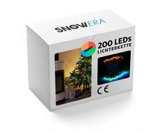 SnowEra Cadena Decorativas 200 LED Multicolor - Guirnalda de Luces Interior y Exterior con Temporizador y Función de Atenuación - Perfecta para el Árbol de Navidad - Longitud 30 m