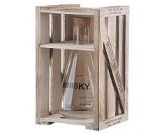 Artland Mixology - Decantador mezclador de 10 oz en verboca, triple sección, caja de regalo de madera, tamaño mediano, vidrio, transparente, 12 x 12 x 22.5 cm
