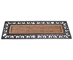 Gardman 82342 gummiverstärkter Fibra de coco Felpudo alfombra Regency Patio – marrón, 45 x 120 x 2 cm)
