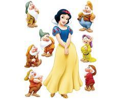 AG Diseño DKS 1083 Disney Snow White, Blancanieves, pegatinas de pared, 30 x 30 cm – 1 notebook, papel, Colorful, 30 x 30 cm