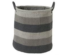 Sealskin Cesta para Ropa Knitted, 36 x 36 x 38 cm, Acrílico, Gris