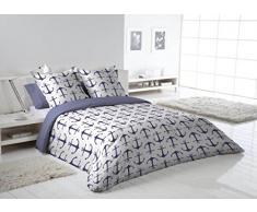 Más Relax Funda nórdica Bradford cama 135/150 2 fundas almohada azul 230x240