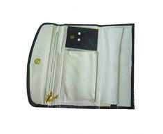 Better & Best 1451084 - Joyero cartera grande, color negro