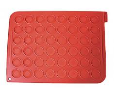 Silikomart, Tapete para Realizar 48 Macarons, Rojo (Brique), 2 x 18.5 x 37