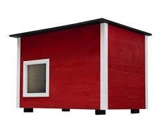 Elmato Deluxe gato casa con aislamiento suelo, 60 x 40 x 43 cm)