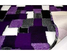 CRS Fur Fabrics Sir Pelo Tejidos Patchwork Profesional Antideslizante Veterinaria Perro Cachorro Mascota Ropa de Cama, poliéster, Morado, 100x 150x 100cm