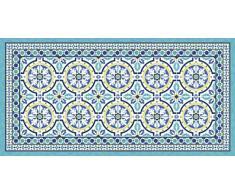 Vilber Gran Chef Tanger Alfombra, Vinilo, Azul, 50x140x0.2 cm