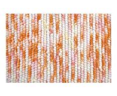 Spirella colección Kito, Alfombrilla de Ducha 55 x 65,80% Polyester, Microfibra, 20% Algodón, Rojo (Sunset), 65 x 55 x 17,5 cm