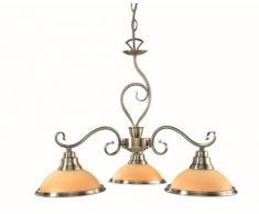 Globo Sassari - Lámpara de techo (latón), diseño antiguo