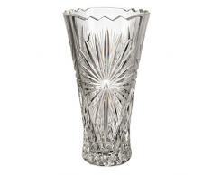 Cristal de Bohemia Florero, Cristal, 13x13x25 cm