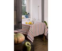 atenas home textile Moira Mantel Antimanchas, Algodón-Poliéster, Amarillo, 160 x 160 cm