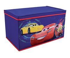 Fun House 712767 - Baúl para Juguetes Plegable para niños, Material no Tejido y Tablero DM, 55,5 x 34,5 x 34 cm, Color Azul