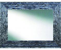 Lienzos Levante Espejo Decorativo baño/recibidor, Madera, Plata y Negro, 97 x 76 cm.