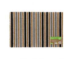 JVL - Felpudo de Entrada con Reverso de Fibra de Coco y Respetuoso con el Medio Ambiente, látex Fibra de Coco, marrón, Talla única