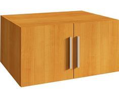 TRASMAN 1007 cerezo Armario superior 2 puertas, madera aglomerada melaminharzbeschichtete Madera de Cerezo, 80 x 52 x 40 cm