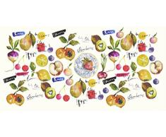 Vilber Gran Chef Mix Alfombra, Vinilo, Multicolor, 50x120x0.2cm