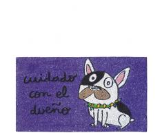 Laroom Felpudo, Fibra de Coco y PVC Base, Violeta