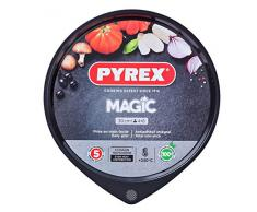 Pyrex Magic Bandeja De Horno Para Pizza, Acero Inoxidable, Negro