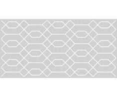 VINILIKO, Alfombra de vinilo, Hexágono, Gris, 50x100 cm