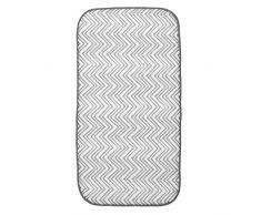 InterDesign iDry - Tapete absorbente para secado de vajilla; para mesada de cocina - 47,52 cm x 22,86 cm, mini - Gris/blanco